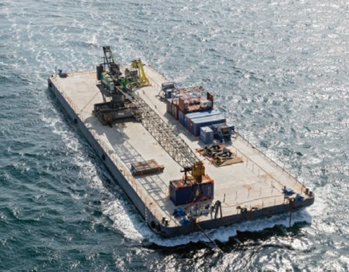 flattop deck barge for sale 76 x 24m